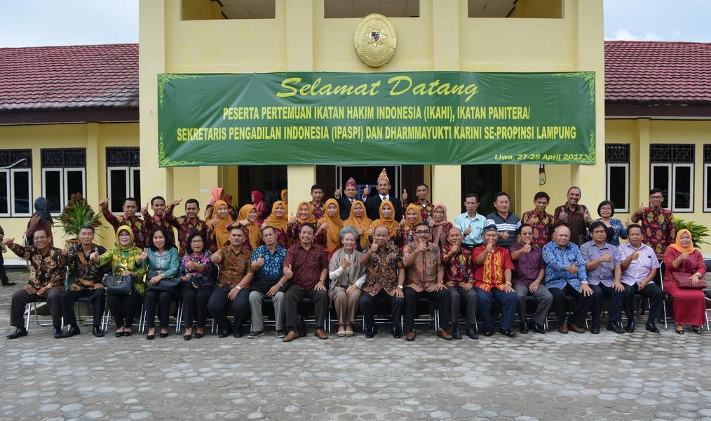 Pertemuan IKAHI dan IPASPI Se-Wilayah Hukum Pengadilan Tinggi Tanjungkarang