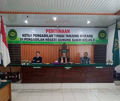 Kunjungan Kerja Direktur Jenderal Badan Peradilan Umum di Provinsi Lampung