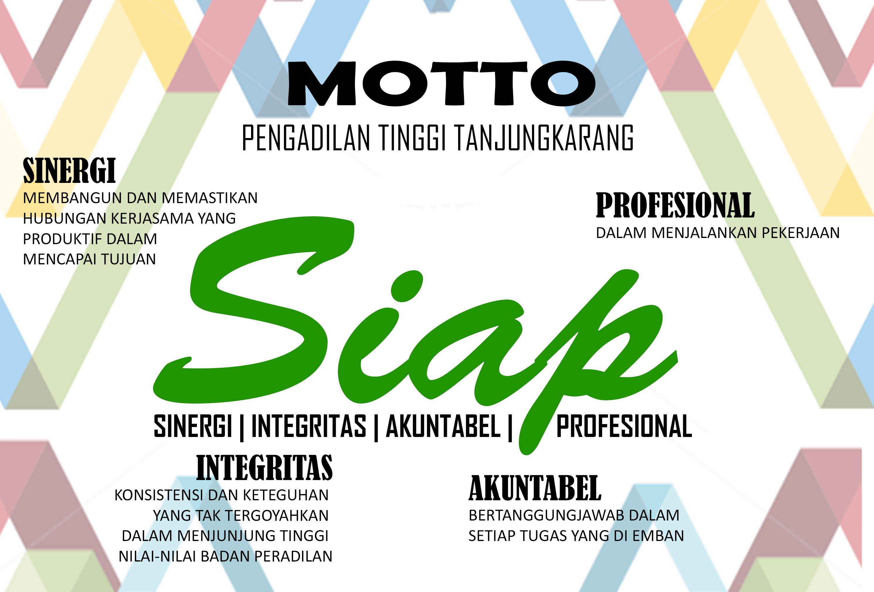 Motto Pengadilan Tinggi Tanjungkarang